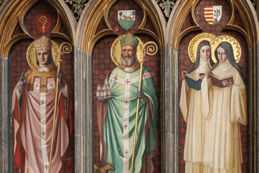 Evéques et Saints du diocèse style néo-gothique (début du XXe siècle).